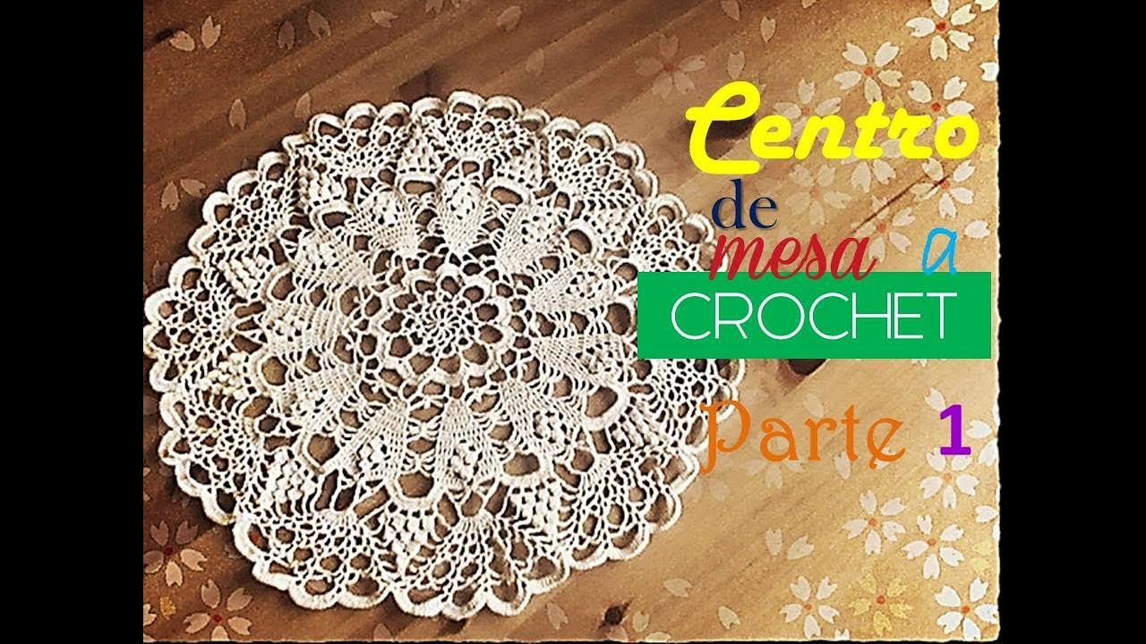 Centro de mesa, tapete,carpeta a crochet, parte 1 (zurdo) - YouTube