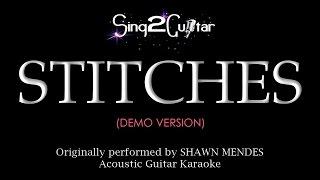Stitches Acoustic Guitar karaoke demo Shawn Mendes
