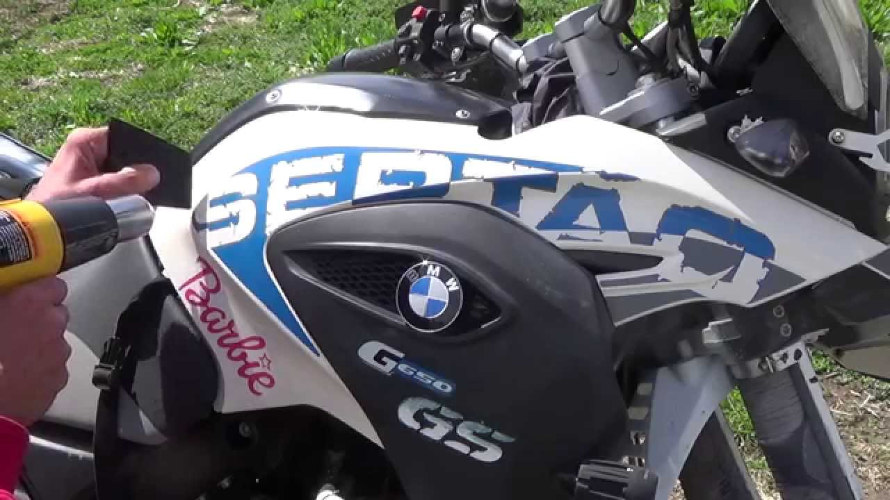 Factory Decal Removal BMW G GS Sertao How Too YouTube - Bmw motorcycle stickers and decals