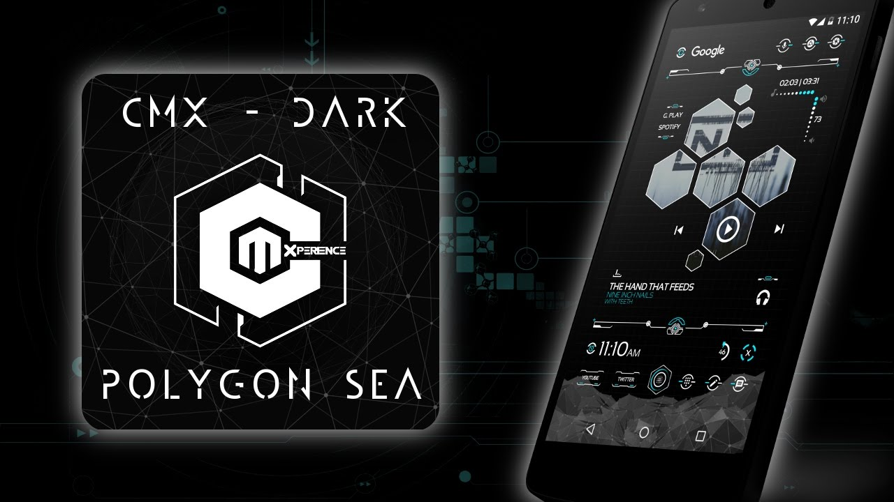 cmx dark polygon sea for klwp theme android customization