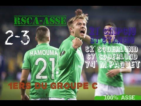Anderlecht - Saint-etienne (RSCA-ASSE) 2-3 le résumé vidéo 6 ème journée d'europa league groupe C