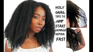 5 Amazing Tips To Correct And Repair Damaged Hair Fast | Natural Hair Growth Journey