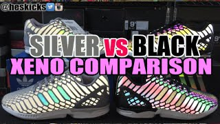 They are Different? Adidas 'XENO' ZX Flux Comparison (Black vs Gray)