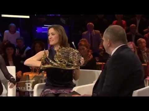 Sarah on the German talk show Dickes B with Jörg Thadeusz