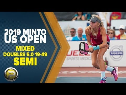 Mixed Doubles 5.0 19-49 SEMI - 2019 Minto US Open Pickleball Championships