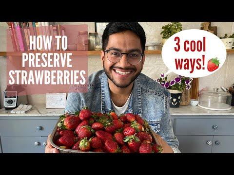 How to Preserve StrawberriesTHREE cool waysdeep freezing strawberries, chia seed jam & compote