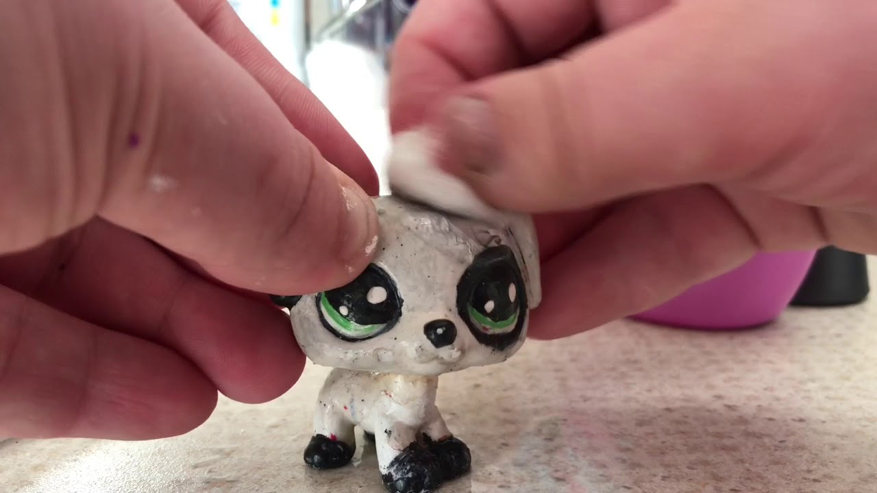 lps tutorial how to take acrylic paint off on an lps youtube