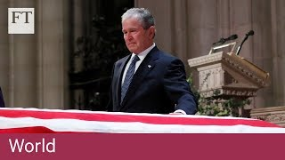 George HW Bush funeral: key moments