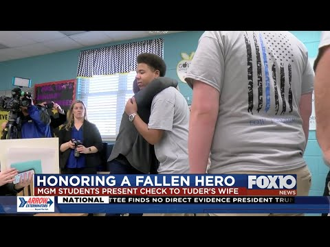 Mary G Montgomery High School students raise money for family of Officer Tuder