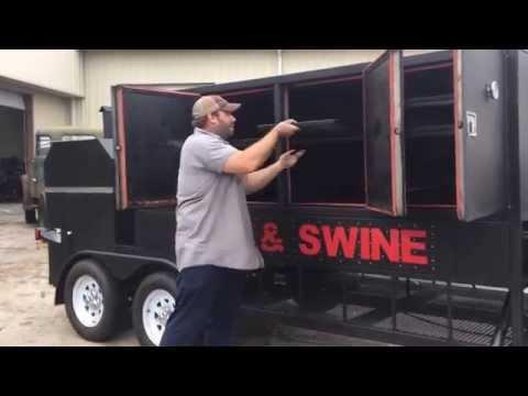 Swig & Swine BBQ Smoker Rig Trailer (6 x 19)