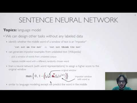 Neural networks [10.10] : Natural language processing - multitask learning