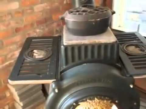 Steve's brass trimmed Wildfire Elm stove.mov - Steve's Brass Trimmed Wildfire Elm Stove.mov - YouTube