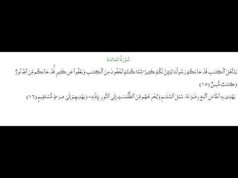 SURAH AL-MAEDA #AYAT 15-16: 10th March 2021