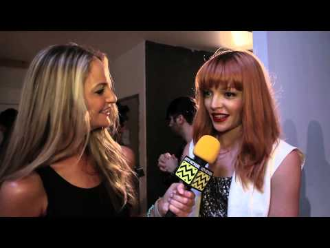 AfterBuzz TV s Nicole Laliberte @ New York Fashion Week September 8th, 2012
