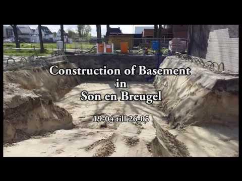 Timelapse van bouw kelder in Son en Breugel