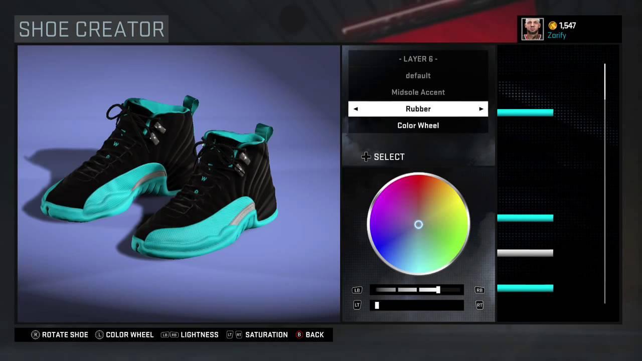 NBA 2K16 Shoe Creator - Air Jordan 12