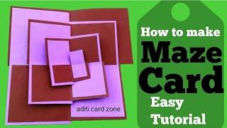 Friendship Day Card | Diy card making | Maze Card | Photo Card |