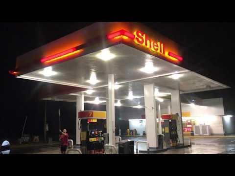 Pressure Washing Gas Station