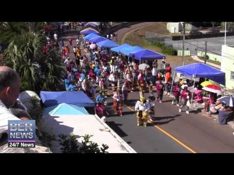 Combined Gombeys In The Bermuda Day Parade, May 26 2014