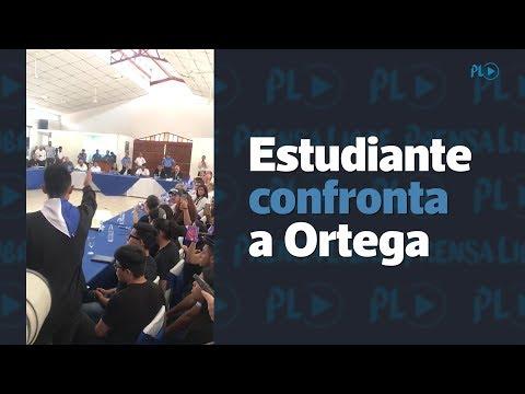 Estudiante confronta a Ortega