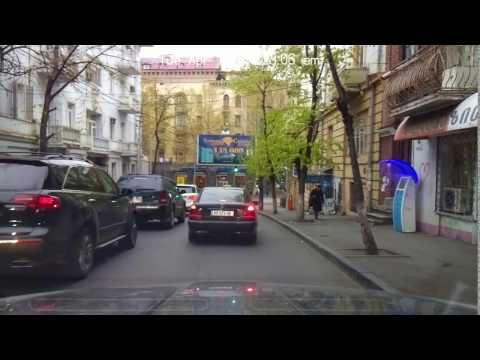 Driving in Tbilisi - from Vake to Mushroom building - April 11 2017