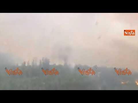 La Spagna brucia, i roghi in Galizia visti dall'alto