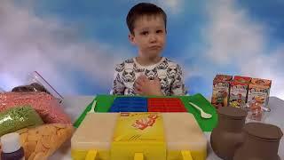 Лего фигурки и блоки из шоколада Макс делает конфеты и мороженое LEGO