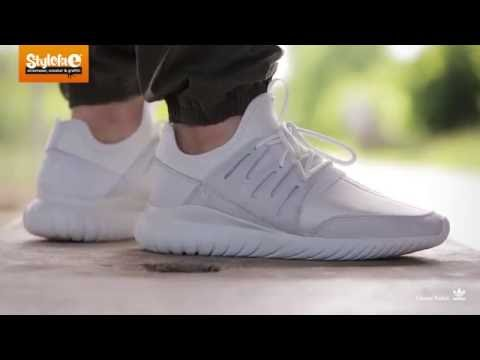 Adidas Tubular Radial On Feet