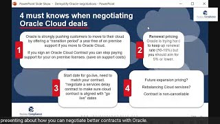 4 must knows when negotiating Oracle SaaS contracts