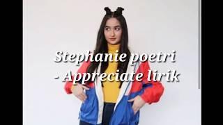 Appreciate stephanie poetri lirik