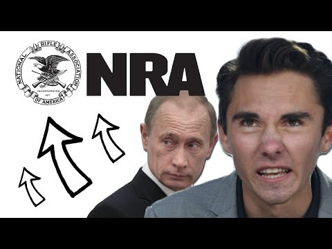 David Hogg thinks Russians are funding NRA