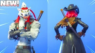 *NEW* Tier 100 WOLFPACK BACKBLING! on 92 SKINS! (Showcase) Fortnite Battle Royale