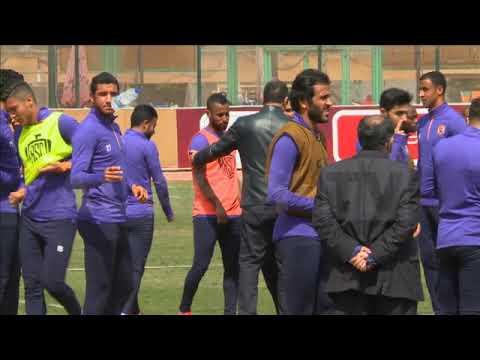 حضور الكابتن محمود الخطيب لمران الأهلي اليوم