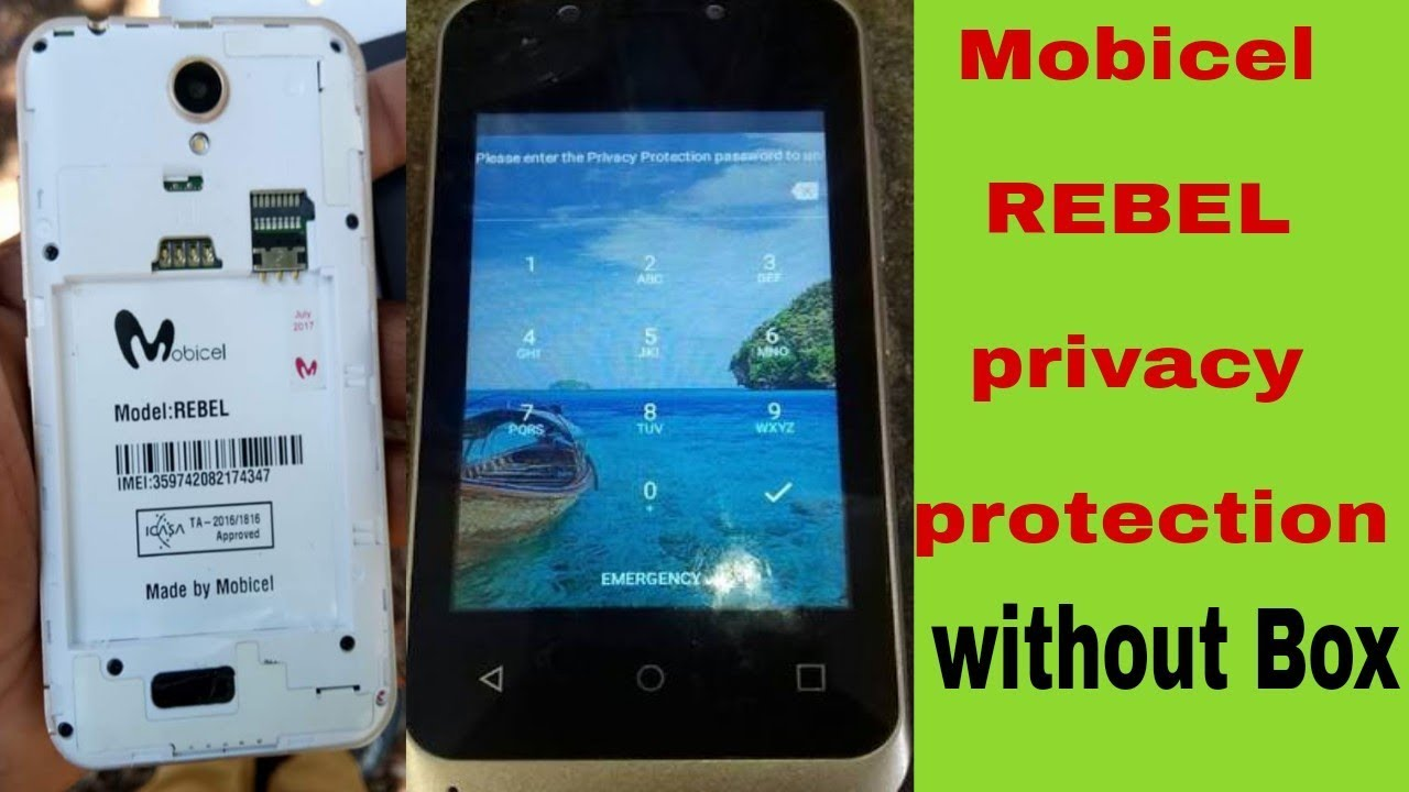 Mobicel REBEL privacy protection mobicel REBEL privacy lock remove