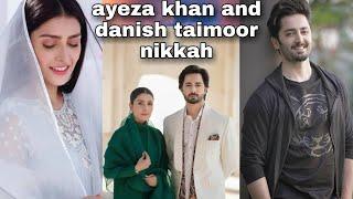 Ayeza khan & Danish Taimoor full Nikkah video