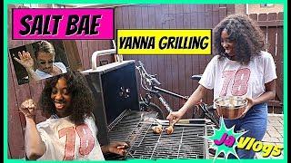 Salt Bae Yanna Grilling   Family Vlogs   JaVlogs