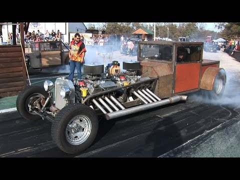 TWIN ENGINE RAT DRAG CAR - Ozark Raceway Park