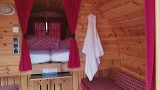 """Barrel """"hotel"""" in the woods in Ingolstadt"""