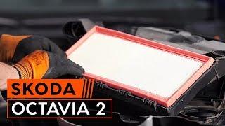 Tutorial: Como substituir a filtro de ar do motor noSKODA OCTAVIA 2 (1Z3)