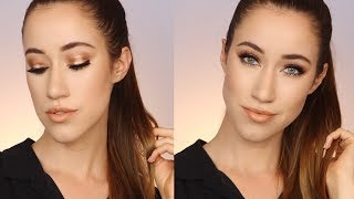 DESIXKATY DOSE OF COLORS COLLECTION MAKEUP LOOK   BRONZE + GOLD HALO EYE   ALLIE G BEAUTY