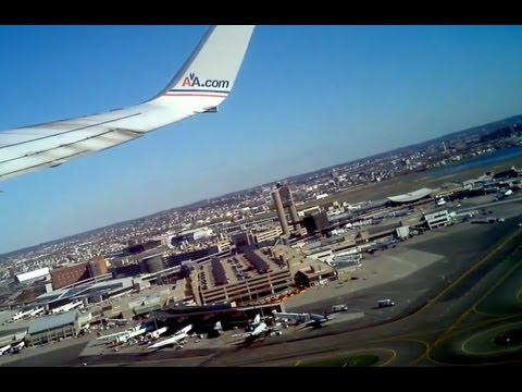 American Airlines takeoff from Boston Logan Airport 4/7/12