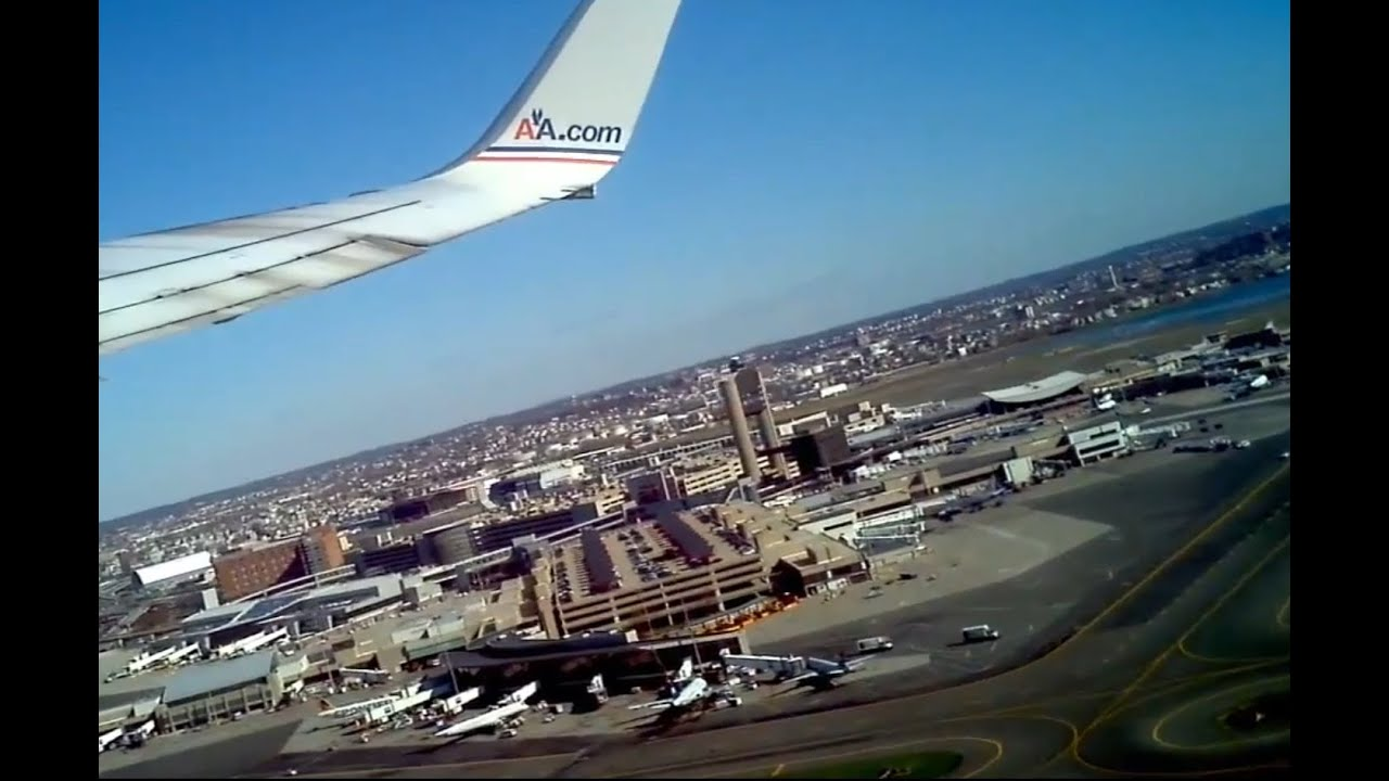 American Airlines Takeoff From Boston Logan Airport 4 7 12