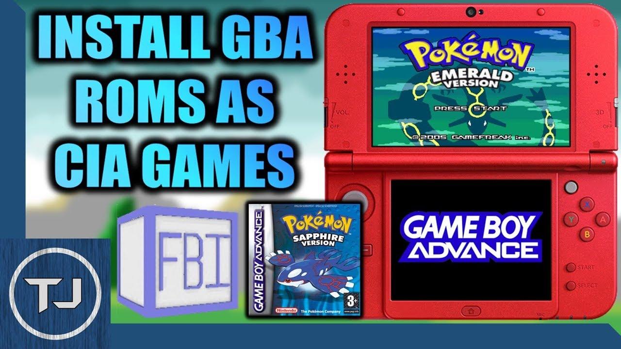 3DS Create & Install GBA Virtual Console CIA's!