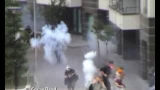Stun grenade causes serious injury to photojournalist