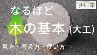 【必見】大工の教えにくい木の基本・見方・考え方・使い方を解説
