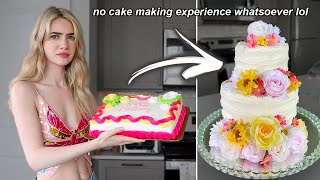 turning a $20 grocery store cake into a $500 *pinterest* wedding cake