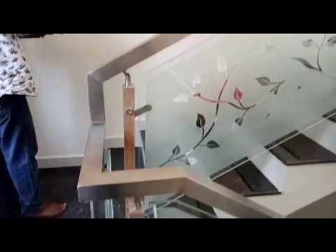 Stainless Steel Staircase Handrail Work Ernakulam Kerala Youtube