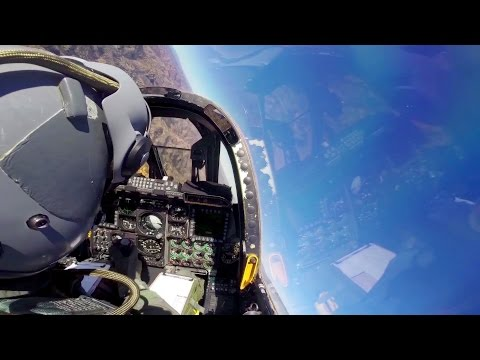 A-10 Thunderbolt II Cockpit Video - Flying Across The Arizona Sky