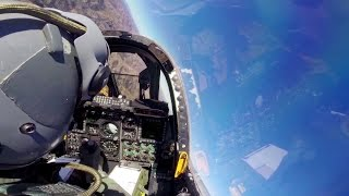 A-10 Thunderbolt II Cockpit Video - Flying Across The Arizona Sky