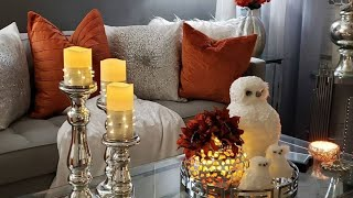 FALL LIVING ROOM TOUR REVAMP #traditionalglamstyle